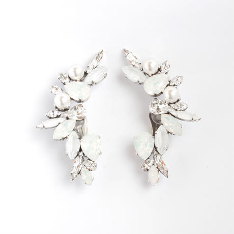 SCARAB16E62  Ear Cuff Paire (WEDDING WHITE)