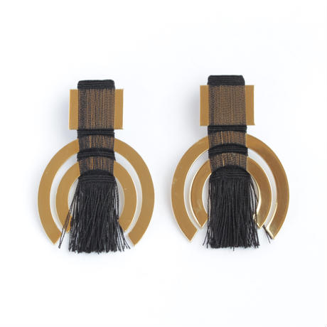 Fiibi Earrings (BLACK/GOLD)