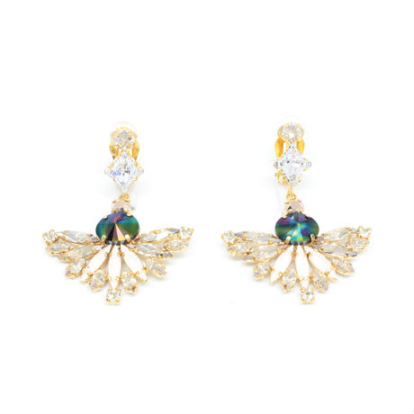 CAPENSIS Earrings Clip +S30 Stone(Gold)