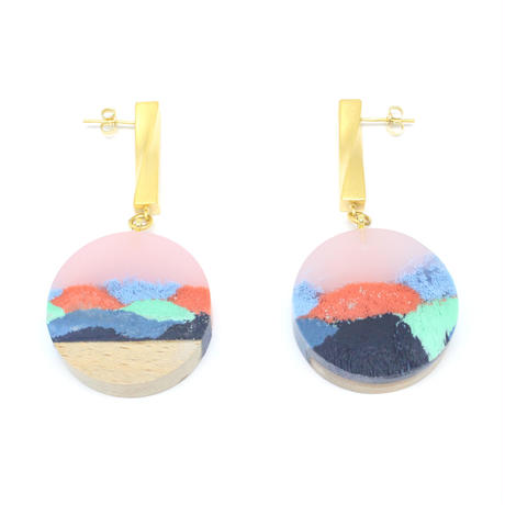 Sunrise Twist Disc Earring